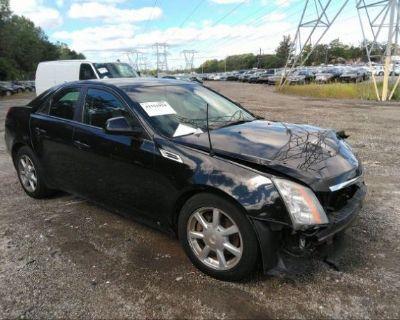 Salvage Black 2009 Cadillac Cts