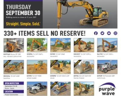 September 30 Fraser Construction retirement auction