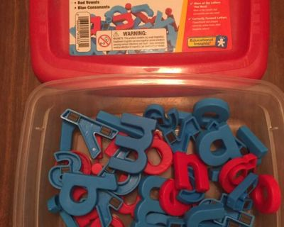 Magnetic Lowercase Letters - Complete with Storage Box