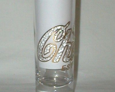 Chicago EST 1837 Tall Shot Glass -Gold Writing -Double Shot - Nevrt Used