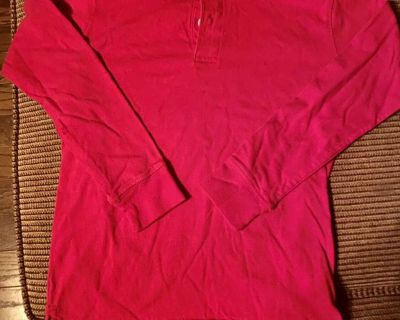 Boys Sz 8 (M) Red 100% Cotton Top by Faded Glory