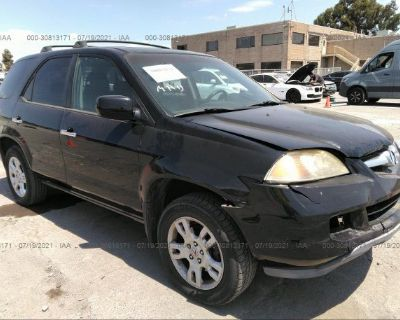 Salvage Black 2005 Acura Mdx