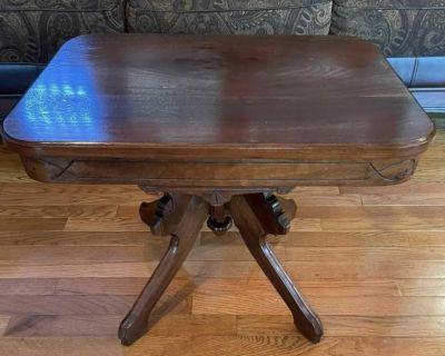 Vintage Walnut Victorian Table
