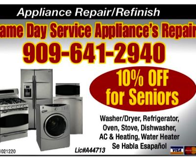 AC & HEATING ** APPLIANCE REPAIR ALL MAKES AND MODELS **