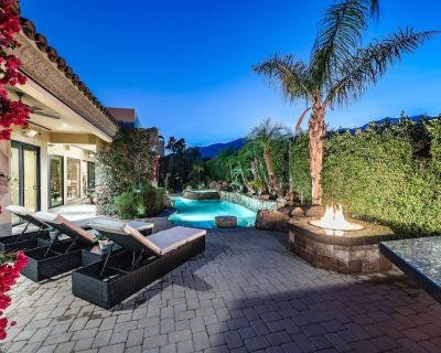 Custom Mediterranean Estate With Guest House, Basketball Hoop, Billiards Table - Palm Springs