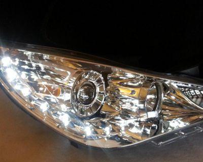 11-13 Sonata Drl Led Projector Headlights Lamp Pair Lights Set Led R8 Style