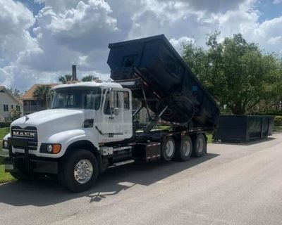 Fully Rebuilt 2005 Mack Granite Tri Axle Roll Off Dump Truck Semi Truck