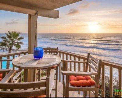 Del Mar Ocean View steps from the beach,4 Heated Pools Hot tub Prvte parking Gym - Solana Beach