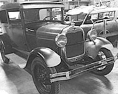 1928 Ford Model A All-Steel Barn Find Original Restored Sedan Stock