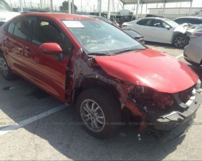 Salvage Red 2020 Toyota Corolla