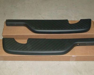 Ford F150 Rear Bumper Top Step Pads Set Pair New Oem Parts Flareside Crew Cab