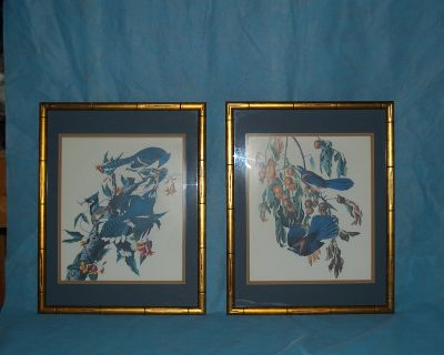 Bamboo Framed Pictures (2) Professionally Done