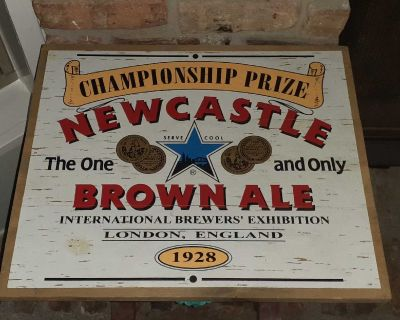 Newcastle Brown Ale Wood Sign