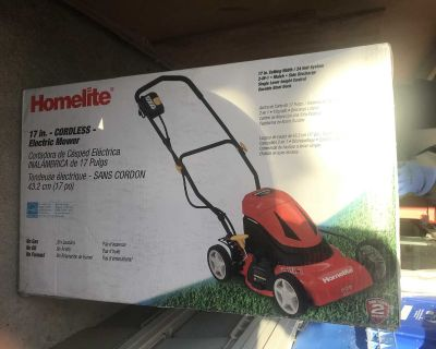 Homelite Cordless Rechargeable Electric Lawn Mower
