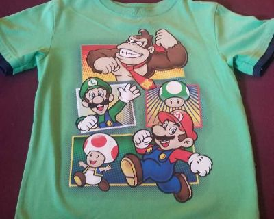 Green Super Mario tshirt - size 6 but fits on the smaller side)