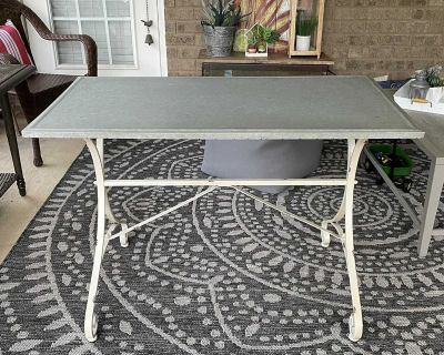 Multifunctional Metal Table with Galvanized Top (see details)
