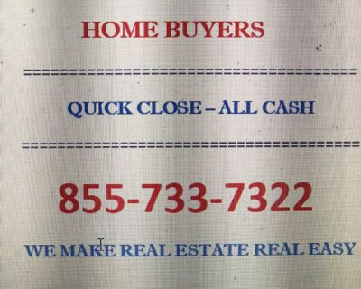 *****PRIVATE BUYER LOOKING FOR HOUSES*****