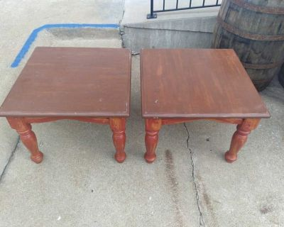 """Pair of solid wood end tables 27"""" x 27 x 20"""""""
