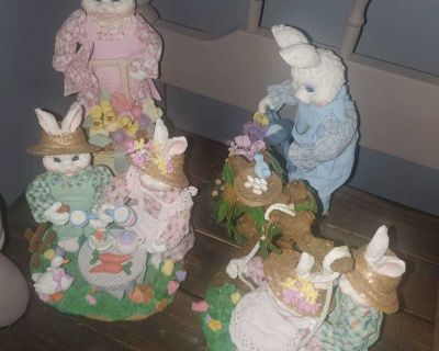 Beautiful bunny easter decorations gardening farmhouse decor