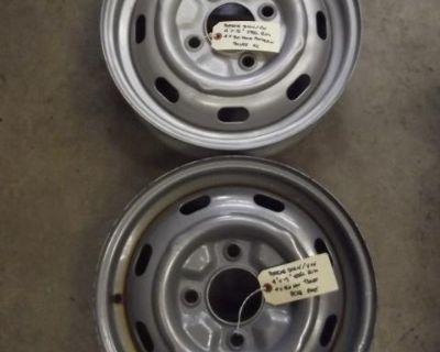 "Porsche 914-4 4J x 15"" Slotted Steel Rims"