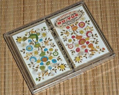 NEW Vintage NuVue Stancraft Playing Cards 2 Decks Red Blue Floral Plastic Coated