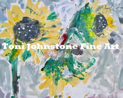Original Fine Art - Sunflower Trio