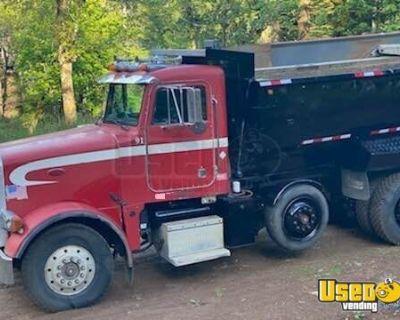 1991 Peterbilt 379 Dump Truck with Transfer Trailer Cat 3406B