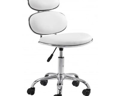 Zuo Furniture Iris Office Chair White | Stylish Furniture At Grayson Living