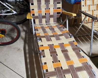 Vintage Long Patio Chair