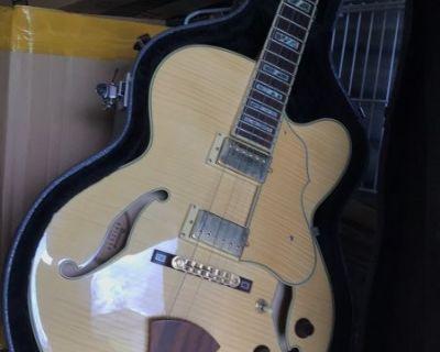 FS/FT Ibanez Artcore AF105 NT Natural / Blonde with hard case and Fender Champion 20 amp