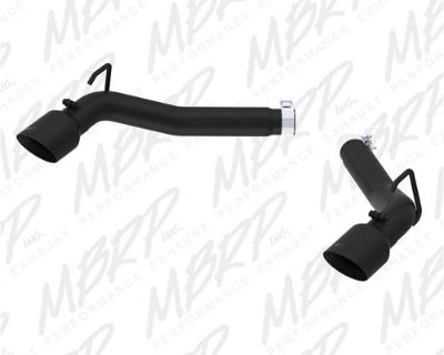 Mbrp Exhaust S7021blk Black Series Dual Axle Back Muffler Delete Pipe