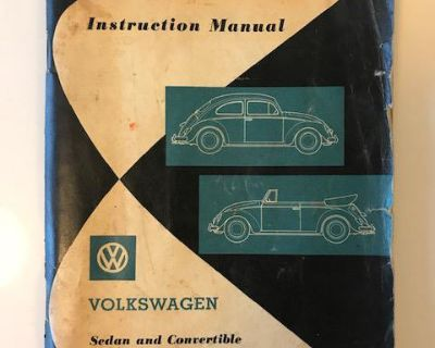 Aug. 1961 Owners Manual Beetle & Convertible
