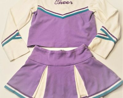 GIRLS CHEERLEADER OUTFIT HANDMADE TO MATCH AMERICAN GIRL CHEER OUTFIT