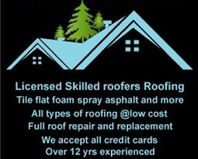 Same day service Licensed roofing roof