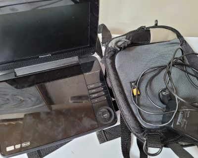 Philips portable DVD player and car holder
