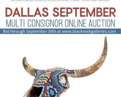 DALLAS SEPTEMBER MULTI-CONSIGNOR ONLINE AUCTION