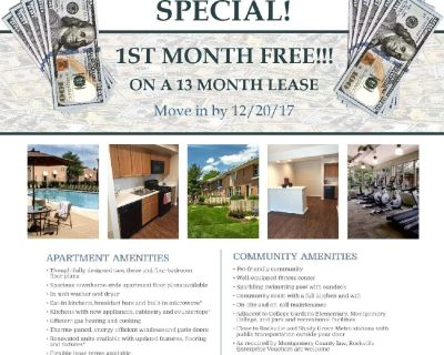 1st MONTH FREE!!! Spacious 3 Bedroom Townhome!! 2242 Sq. Ft.