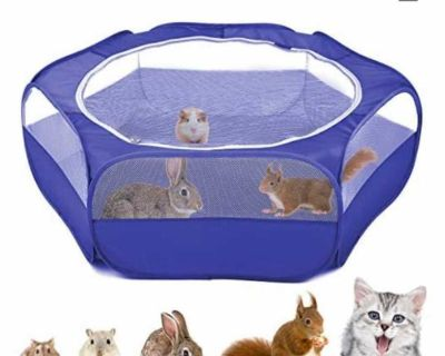New pet cage still in packaging