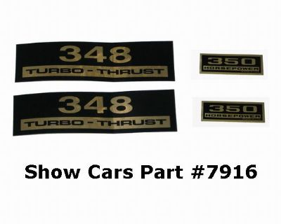 Valve Cover Decals Kit 61,60,59,58,chevy Chevrolet Impala Belair 348 350hp