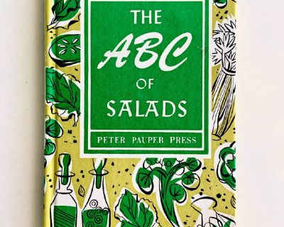 Vintage 1958 Illustrated Cookbook - The ABC of Salads