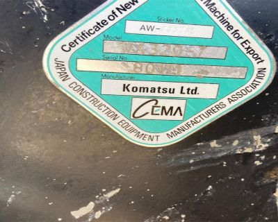 2013 KOMATSU WA320-7 Wheel Loaders
