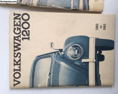 Nice original VW Bug owners manual 60-65