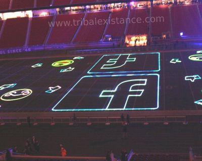 Spectacular High Power Laser Light Show Laser Logo Billboard Rental Services Worldwide