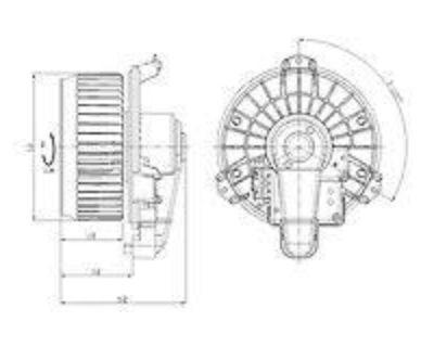 Tyc 700215 Hvac Blower Motor With Wheel New With Lifetime Warranty