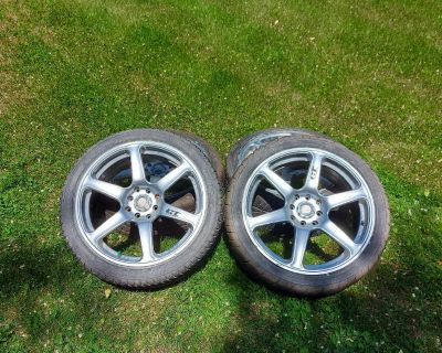 Set of 4 17 inch rims and tires for sale 400 obo