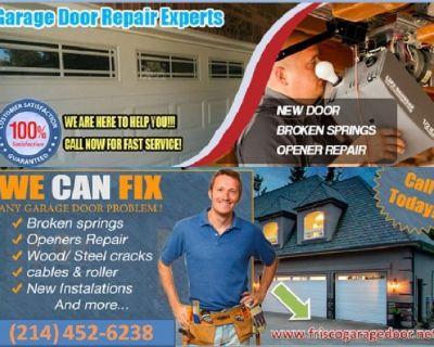 A1 Rated Garage Door Opener Repair Frisco, 75034 TX – Just $25.95