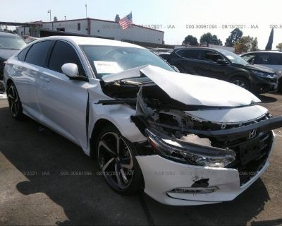 Salvage White 2020 Honda Accord Sedan