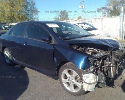 Salvage Dark Blue 2012 Toyota Corolla