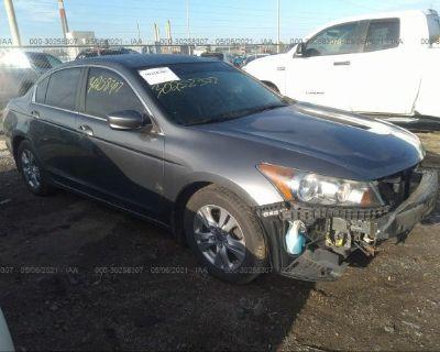 Salvage Gray 2012 Honda Accord Sdn