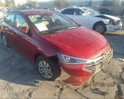 Salvage Red 2019 Hyundai Elantra